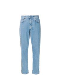 hellblaue Boyfriend Jeans von Moschino