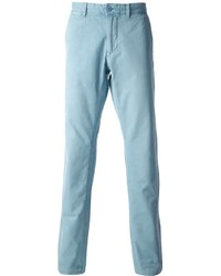 hellblaue Chinohose