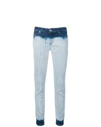 hellblaue Mit Batikmuster enge Jeans von Diesel Black Gold