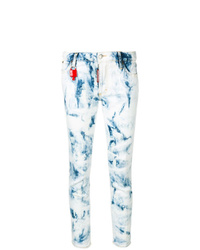 hellblaue Mit Batikmuster enge Jeans von Dsquared2
