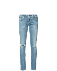 hellblaue enge Jeans mit Destroyed-Effekten von Citizens of Humanity