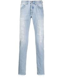 hellblaue enge Jeans mit Destroyed-Effekten von Eleventy
