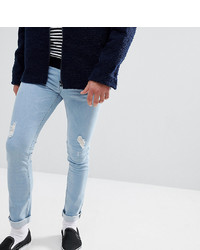 hellblaue enge Jeans mit Destroyed-Effekten von Just Junkies