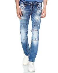 hellblaue enge Jeans mit Destroyed-Effekten von RUSTY NEAL
