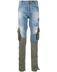 hellblaue enge Jeans mit Flicken von Paul & Shark