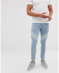 hellblaue enge Jeans von ASOS DESIGN