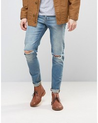 hellblaue enge Jeans von Asos
