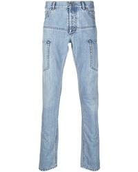 hellblaue enge Jeans von Balmain
