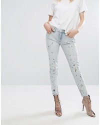hellblaue enge Jeans von Blank NYC