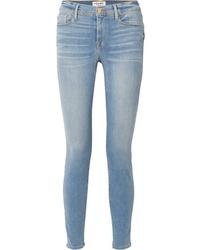 hellblaue enge Jeans von Frame