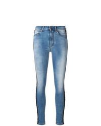 hellblaue enge Jeans von Marcelo Burlon County of Milan