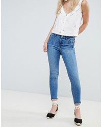 hellblaue enge Jeans von Miss Selfridge