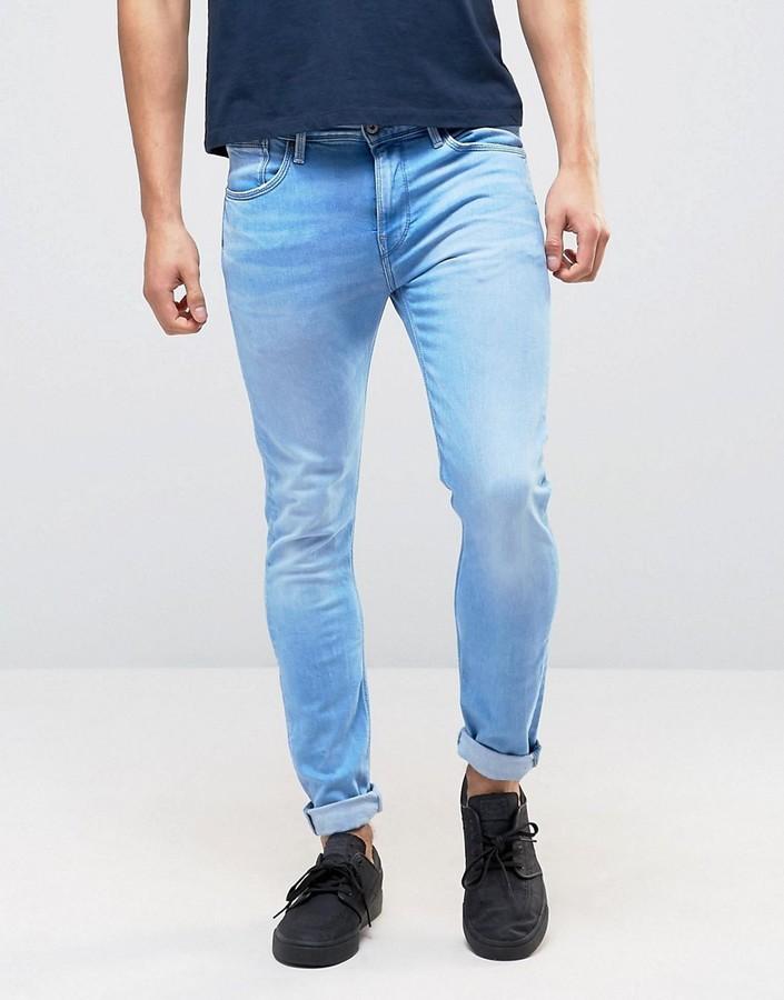 promo code 3b179 3c436 hellblaue enge Jeans von Pepe Jeans