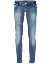 hellblaue enge Jeans von Philipp Plein