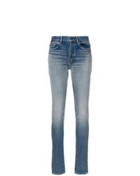 hellblaue enge Jeans von Saint Laurent