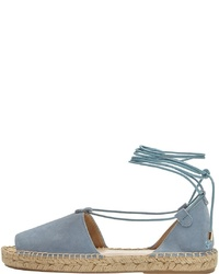 hellblaue flache Sandalen aus Leder von PoiLei