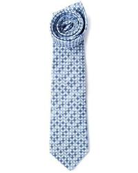 hellblaue gepunktete Krawatte