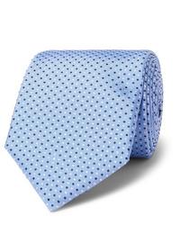 hellblaue gepunktete Krawatte von Hugo Boss