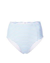hellblaue horizontal gestreifte Bikinihose von Onia