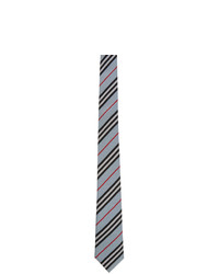 hellblaue horizontal gestreifte Krawatte von Burberry