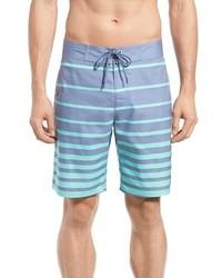 hellblaue horizontal gestreifte Shorts