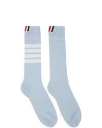 hellblaue horizontal gestreifte Socken von Thom Browne