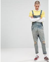 hellblaue Jeans Latzhose von Asos