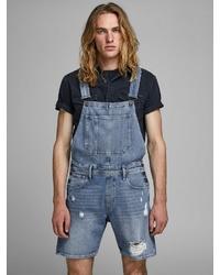 hellblaue Jeans Latzhose von Jack & Jones