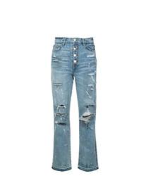 hellblaue Jeans mit Destroyed-Effekten von Amiri
