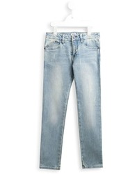 hellblaue Jeans mit Destroyed-Effekten von Armani Junior