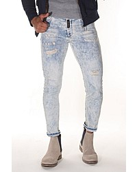 hellblaue Jeans mit Destroyed-Effekten von Bright Jeans