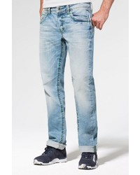 hellblaue Jeans mit Destroyed-Effekten von Camp David