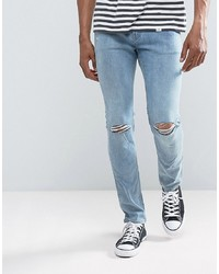 hellblaue Jeans mit Destroyed-Effekten von Cheap Monday