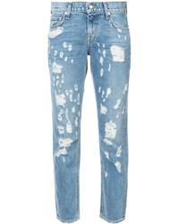 hellblaue Jeans mit Destroyed-Effekten von Derek Lam 10 Crosby