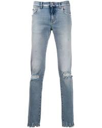 hellblaue Jeans mit Destroyed-Effekten von Dolce & Gabbana