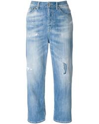 hellblaue Jeans mit Destroyed-Effekten von Dondup