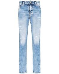 hellblaue Jeans mit Destroyed-Effekten von DSQUARED2