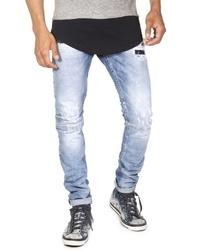 hellblaue Jeans mit Destroyed-Effekten von EX-PENT
