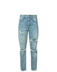 hellblaue Jeans mit Destroyed-Effekten von Grlfrnd