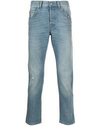 hellblaue Jeans mit Destroyed-Effekten von Gucci