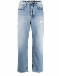 hellblaue Jeans mit Destroyed-Effekten von Haikure