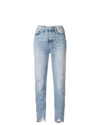 hellblaue Jeans mit Destroyed-Effekten von Hudson