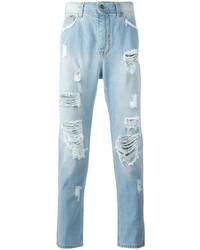 Hellblaue Jeans mit Destroyed-Effekten von Iceberg