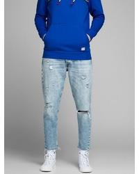 hellblaue Jeans mit Destroyed-Effekten von Jack & Jones