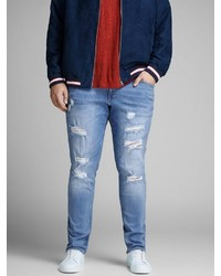 hellblaue Jeans mit Destroyed-Effekten von Jack & Jones