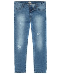 hellblaue Jeans mit Destroyed-Effekten von JP1880
