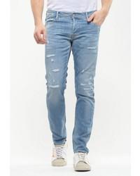 hellblaue Jeans mit Destroyed-Effekten von Le Temps des Cerises