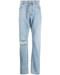 hellblaue Jeans mit Destroyed-Effekten von MSGM