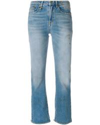 hellblaue Jeans mit Destroyed-Effekten von R 13