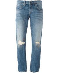 Hellblaue Jeans mit Destroyed-Effekten von Rag & Bone